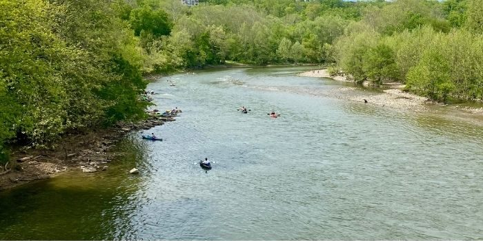 kayakers on the Little Miami River