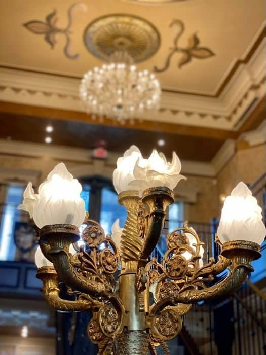 lamp at The Kentucky Castle