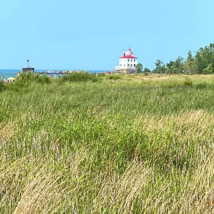 lighthouse at Headlands Beach State Park