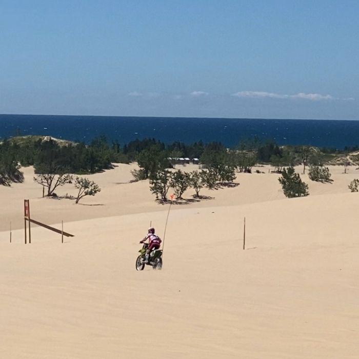 motorcycle at Silver-lake-sand-dune