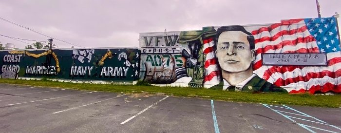 mural at Post 4075 Frankfort KY