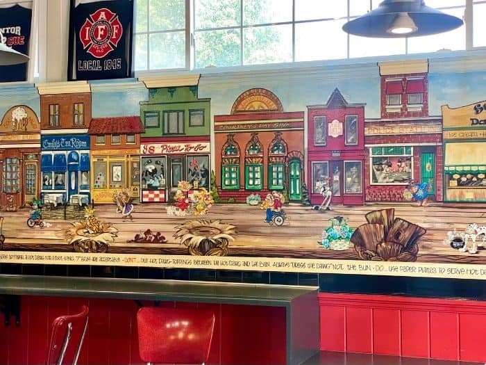 mural at Scooter's World Famous Dawg House