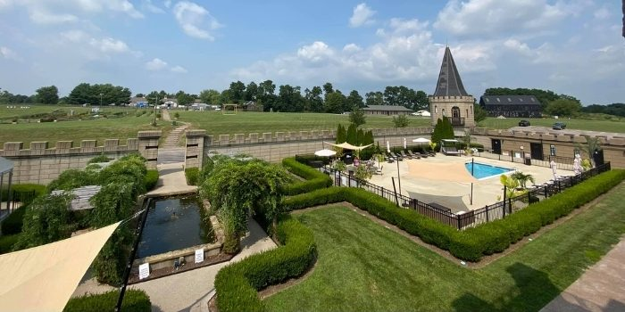 outdoor pool at The Kentucky Castle