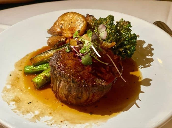 prime filet at the Kentucky Castle