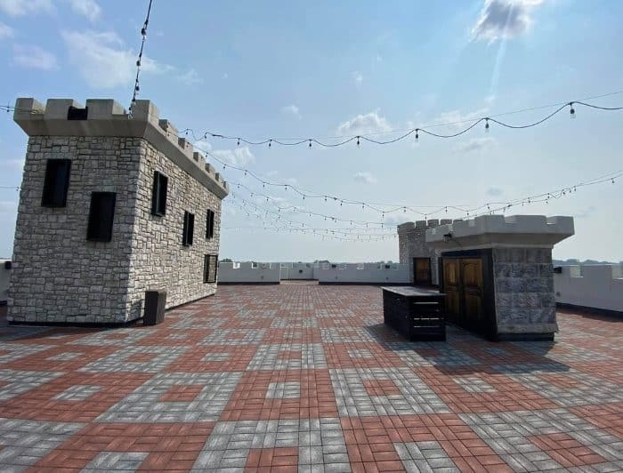 rooftop at The Kentucky Castle