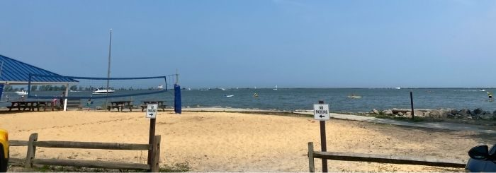 sand volleyball at Fairport Harbor Lakefront Park