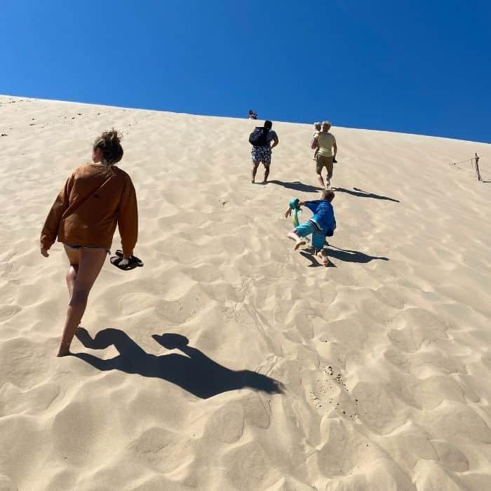 steep Sand-dune-near-Silver-Lake