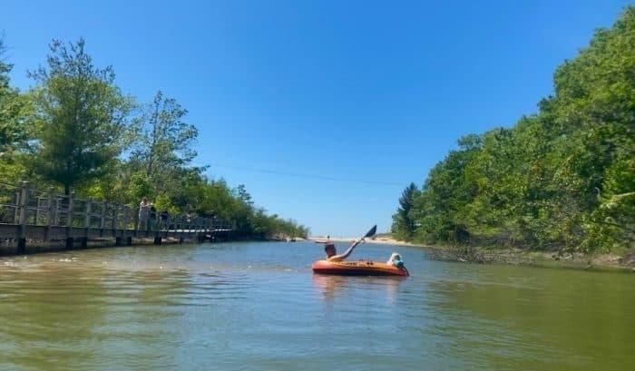 tubing from Stony Lake to Lake Michigan