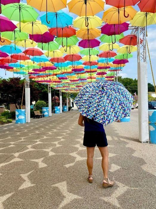 umbrella at Umbrella Sky Project in Batesville