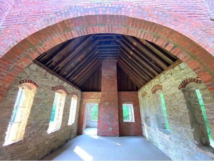 view inside Squire's Castle