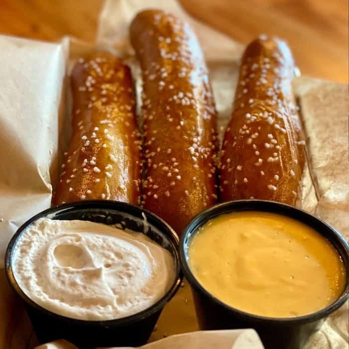Bavarian beer pretzels at Wurst Bier Hall in downtown Fargo