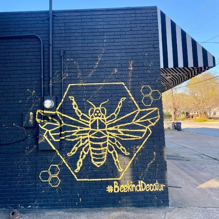Bee Kind Decatur is located at the corner of Oak and Lee Street 207 Oak Street N.E. in Decatur, Alabama