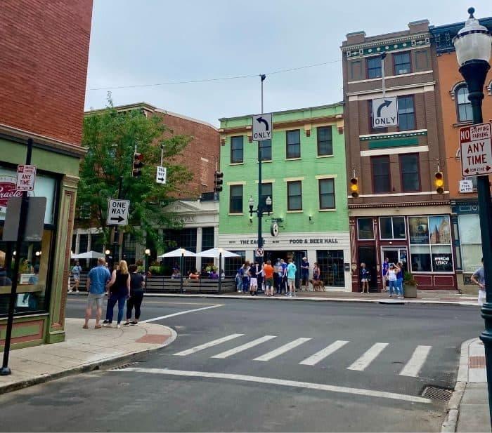 Over the Rhine neighborhood Vine Street in Cincinnati Ohio