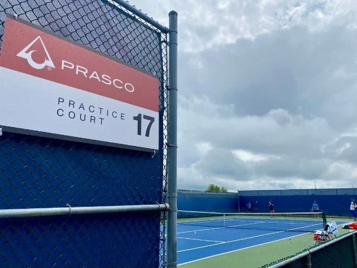 Practice court at Western and Southern Open