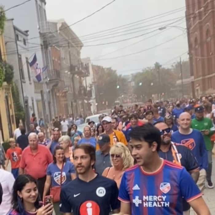 Pre match parade FC Cincinnati