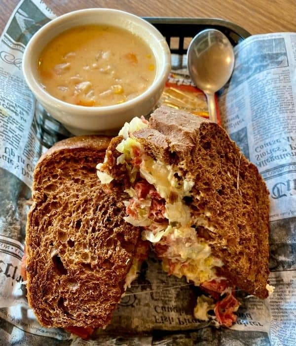 Reuben sandwich at The Lunchbox Eatery