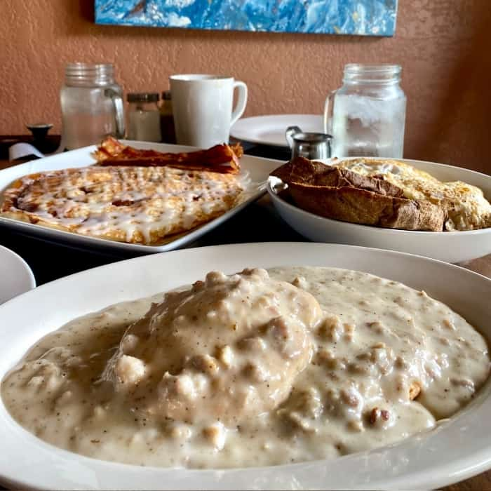 biscuits and gravy at Lunchbox Eatery