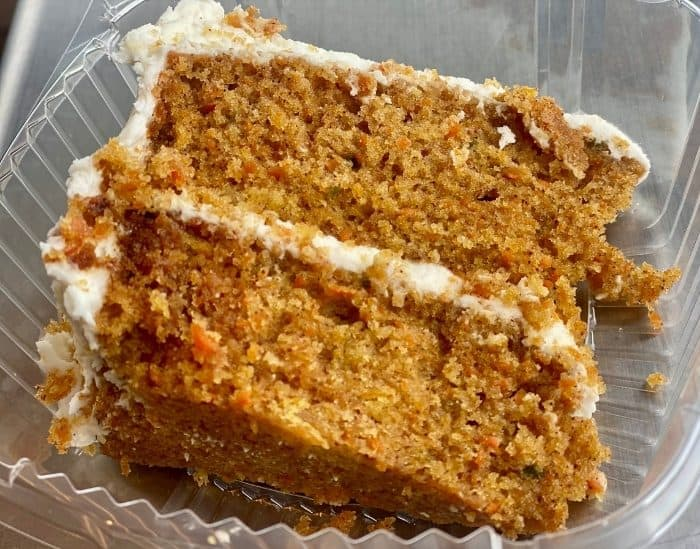 carrot cake at the Lunchbox Eatery