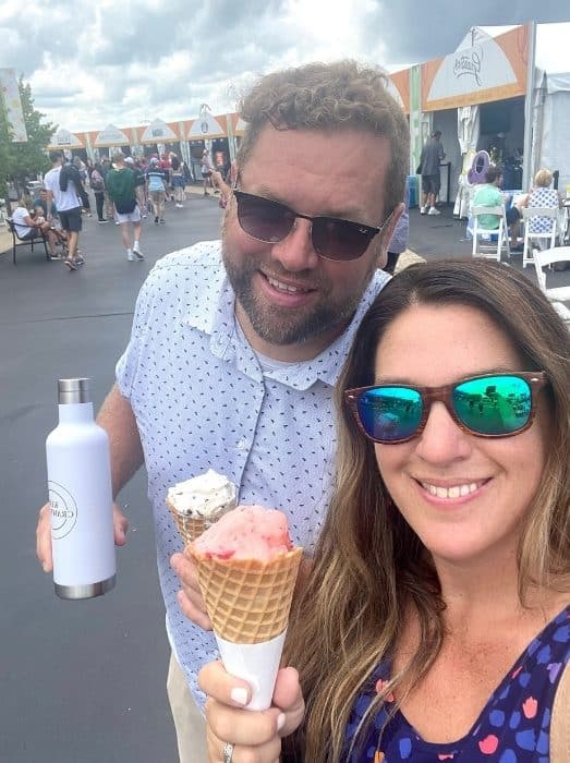 couple at Western and Southern Open