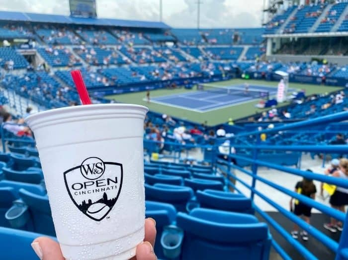drink in the stands at Western and Southern Open