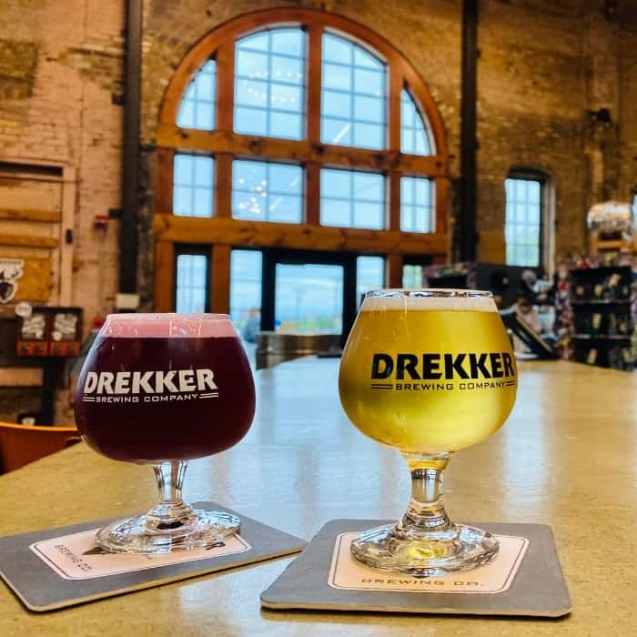 drinks at Drekker Brewing Co
