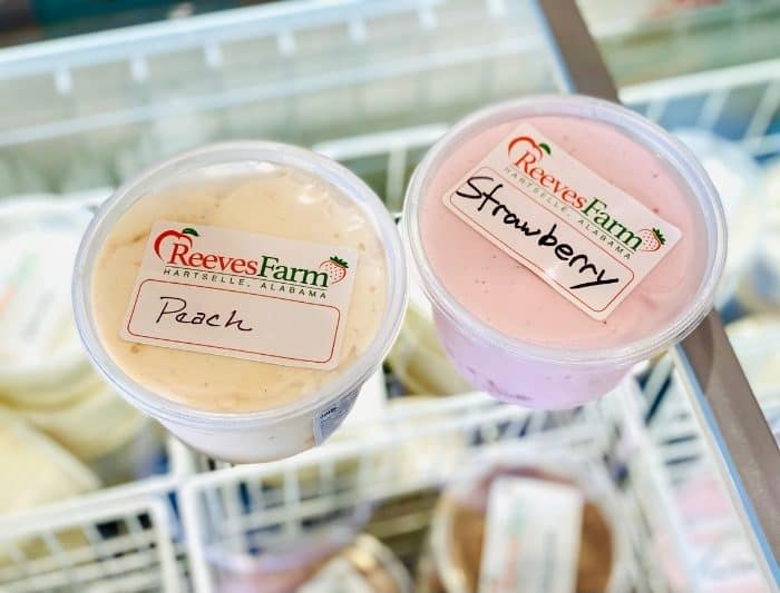 ice cream at Reeves Peach Farm