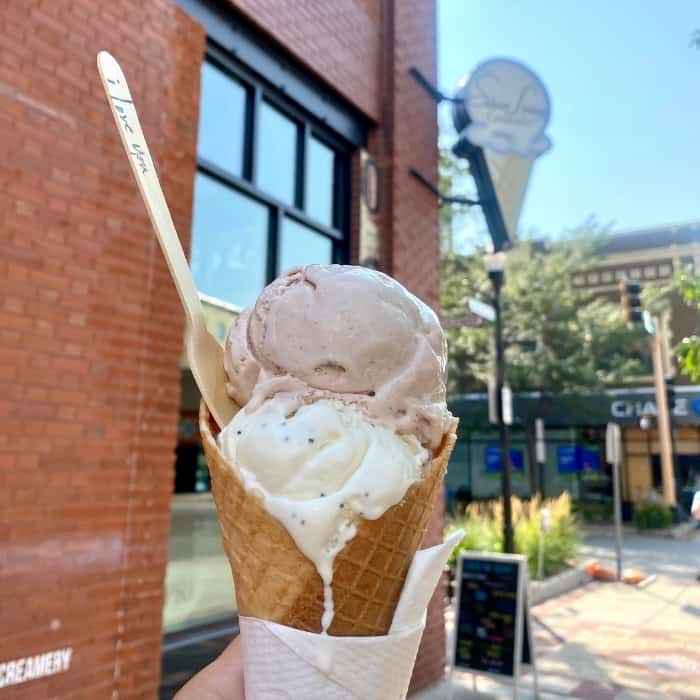 ice cream at The Silver Lining Creamery