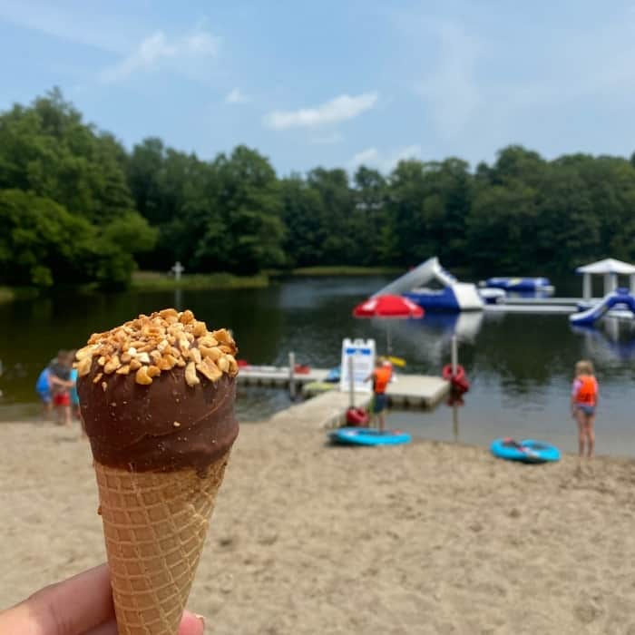 ice cream cone at Kirkwood Adventure Park