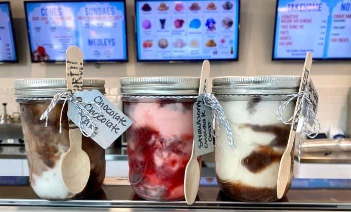 ice cream sundaes at The Silver Lining Creamery
