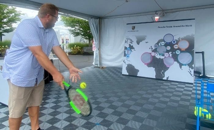 interactive booths at Tennis tournament