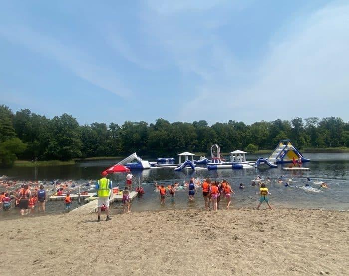 kids swimming at Kirkwood Adventure Park