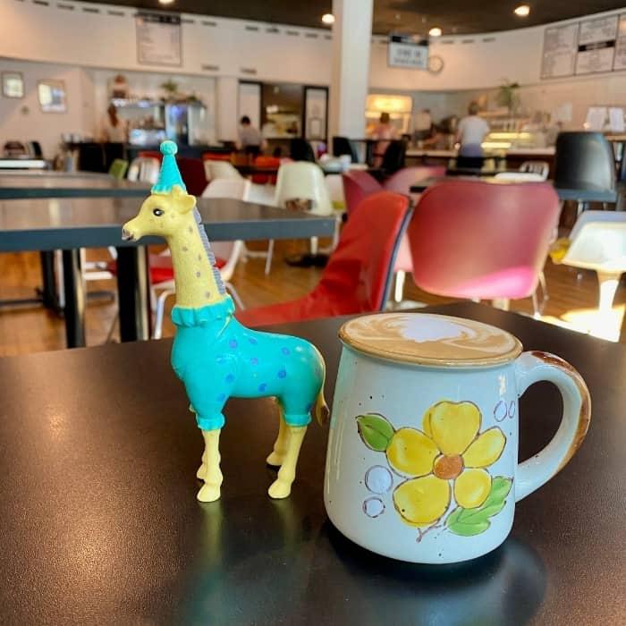 lavender latte at BernBaum's