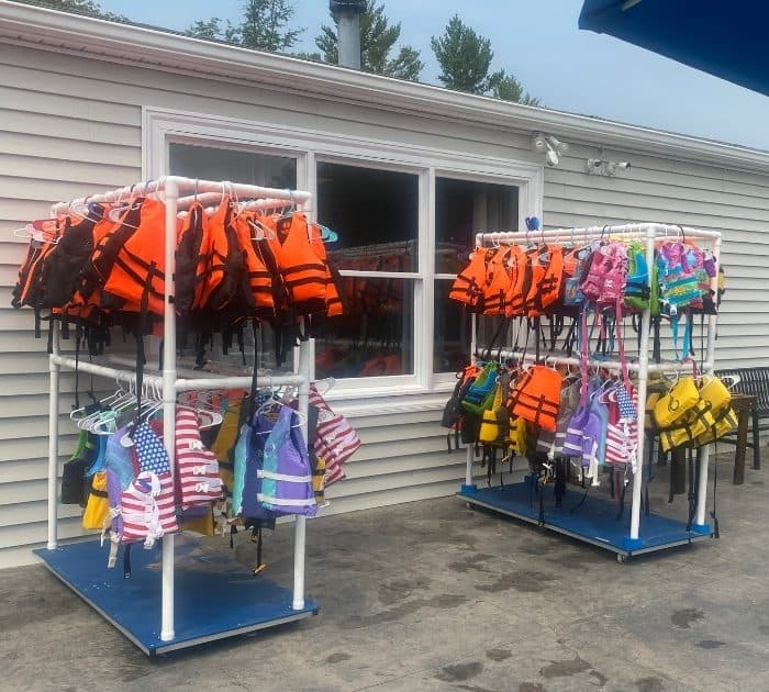 life jackets for kids at Kirkwood Adventure Park
