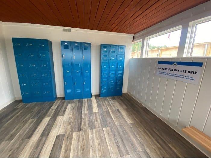 locker room at Kirkwood Adventure Park