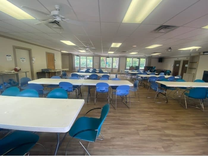 meeting room for groups at Kirkwood Adventure Park