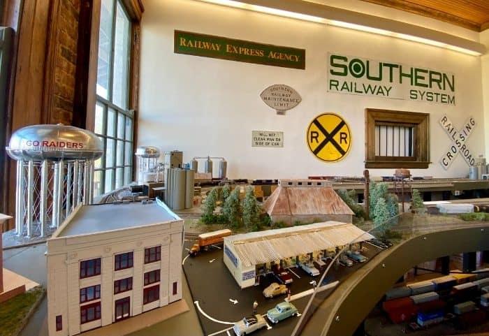 model train display at The Historic Depot & Railroad Museum