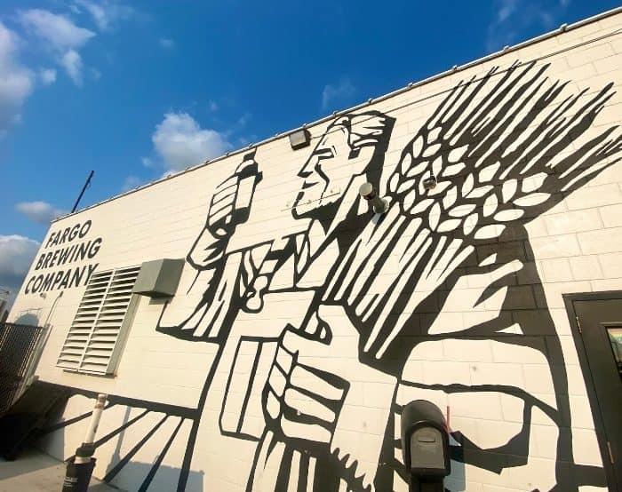 mural at Fargo Brewing Company