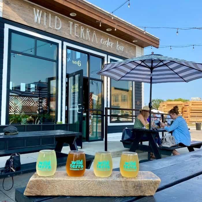 outdoor patio at Wild Terra cider bar