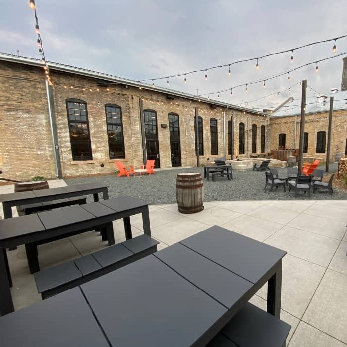 outdoor space at Drekker Brewing Co