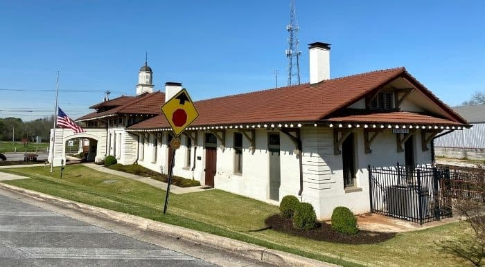 outside The Historic Depot & Railroad Museum Decatur AL