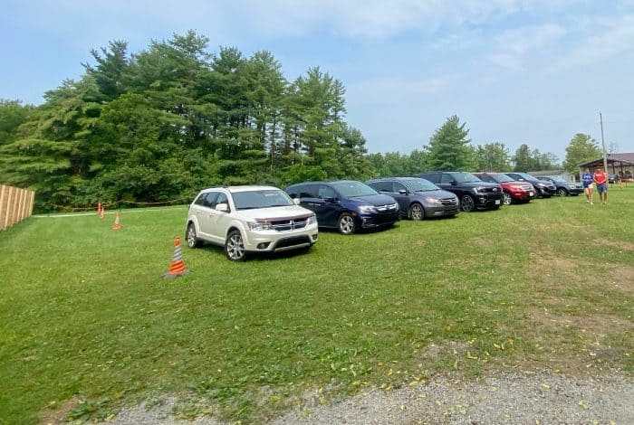 parking at Kirkwood Adventure Park