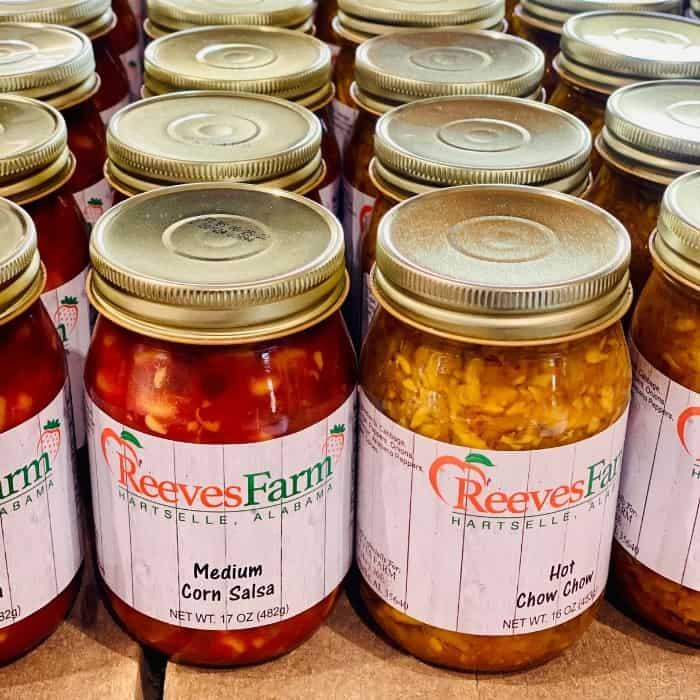 salsa at Reeves Peach Farm