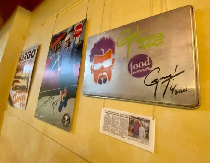 signed baking pan Guy Fieri at Nicole's Fine Pastry and Cafe