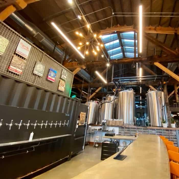 skylights at Drekker Brewing Co