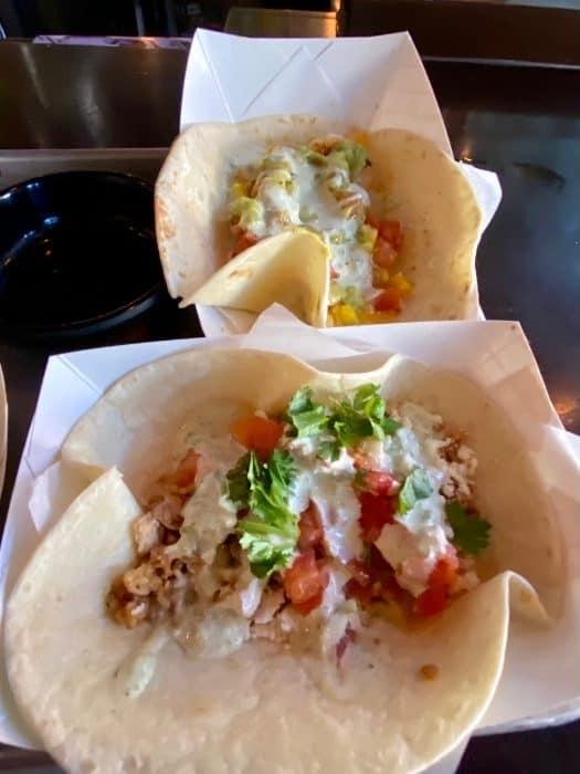 tacos at Vinyl Taco