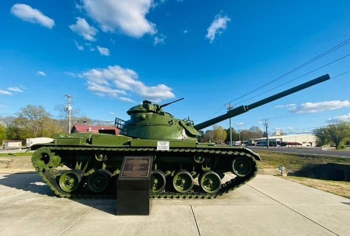 tank at Morgan County Veterans Memorial