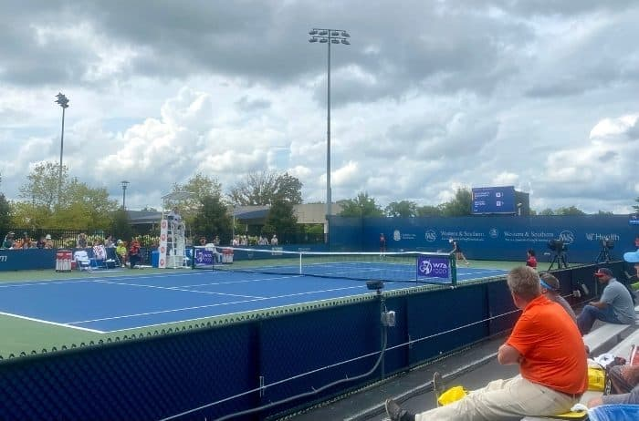 tennis court at Western and Southern Open