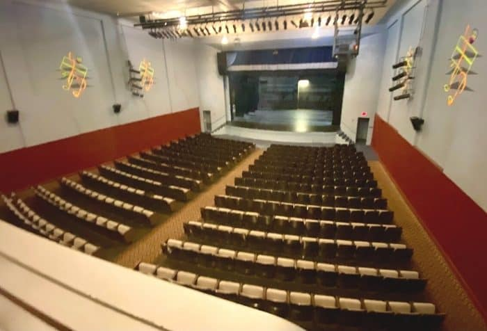 view from balcony at Princess Theatre in Decatur AL