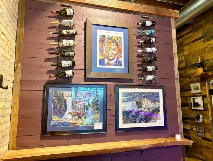wall art at Teddy's Eatery and Parlor