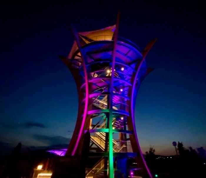 AnaVista Tower at night